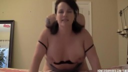 Cum all over those perfect tits after doggy fuck