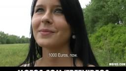 Public Pickups - Czech bikini model fucks on top of a car