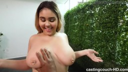 18 Year With Big Natural Tits Puts Out To Get Casting