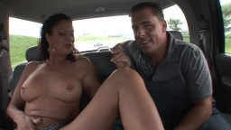 Horny amateur brunette MILF has intense car sex like a pro